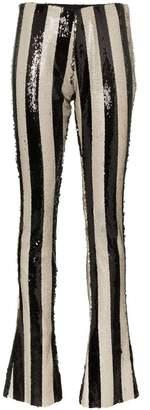 Marques Almeida Marques'almeida stripe embellished sequin trousers