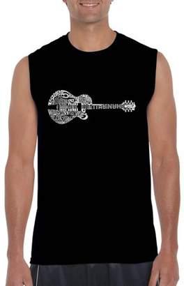 Pop Culture Men's Sleeveless T-Shirt - Country Guitar