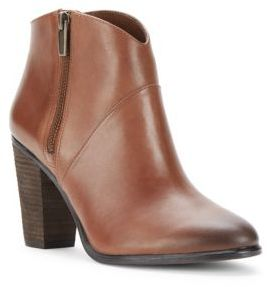 Almond Toe Leather Ankle Boots $169 thestylecure.com