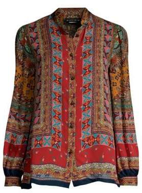 Etro Dream Catcher Silk Blouse