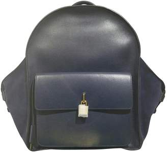 Buscemi Blue Leather Backpacks