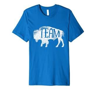 American Retro Love Buffaloes Cute Buffalo Tshirt Buffalo Silhouette Bison Team T Shirt Tee