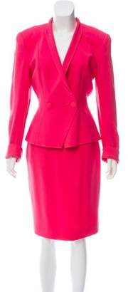 Christian Dior Tailored Knee-Length Skirt Suit
