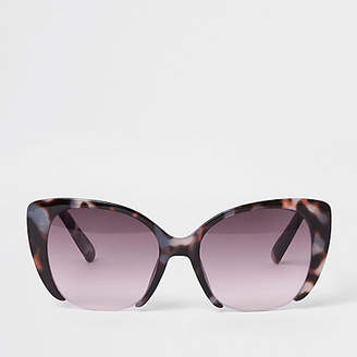 224aad3c648 River Island Womens Brown tortoise shell pink lens sunglasses