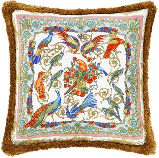 Versace Birds of Summer Cushion - 45x45cm - Pink/Yellow