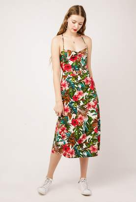 Azalea Lace Up Back Midi Dress
