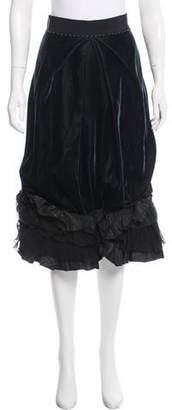 Gianfranco Ferre Velvet Midi Skirt