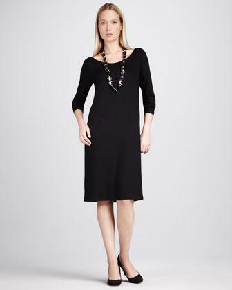 Eileen Fisher Jersey Scoop-Neck Dress