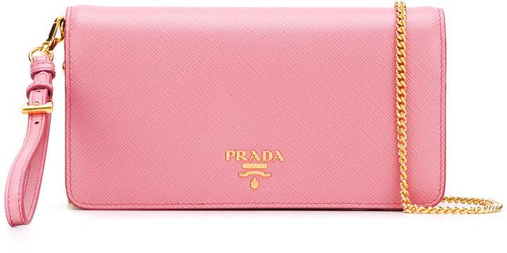 pradaPrada gold tone chain shoulder bag