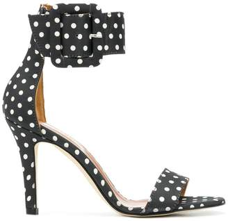 Paris Texas polka dot buckle sandals