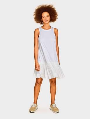 White + Warren Luxurious Women's Cashmere Sweaters & Travel Wraps Cotton Jersey Twin Tie Dress