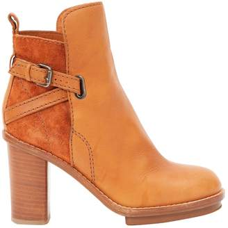 Showing 648 camel ankle boots. Pre-Owned at Vestiaire Collective Acne  Studios Cypress Leather Ankle Boots