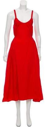 Veda Scoop Neck Midi Dress