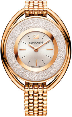 Swarovski Women's Swiss Crystalline Gold-Tone PVD Stainless Steel Watch 37mm $499 thestylecure.com