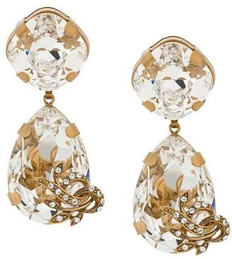 Dolce & Gabbana crystal teardrop earrings