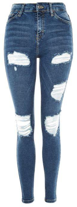 TopshopTopshop Moto indigo super ripped jamie jeans