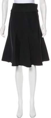 Louis Vuitton A-Line Knee-Length Skirt