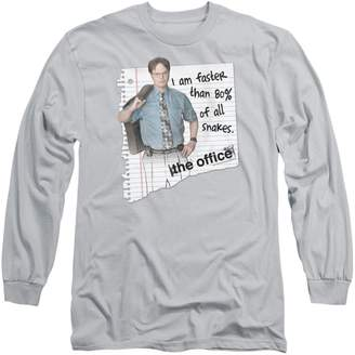 Office The NBC TV Series Dwight Snakes Adult Long Sleeve T-Shirt Tee