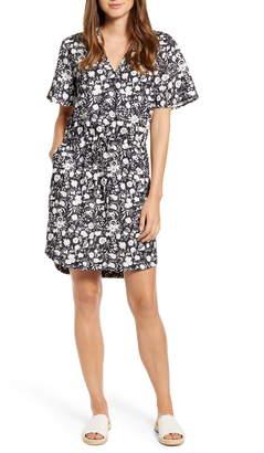 Caslon Floral Crepe Dress
