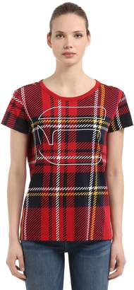 Royal Tartan Printed Cotton T-Shirt