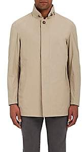 Barneys New York MEN'S TECH-FAILLE COAT-BEIGE, TAN SIZE XXL