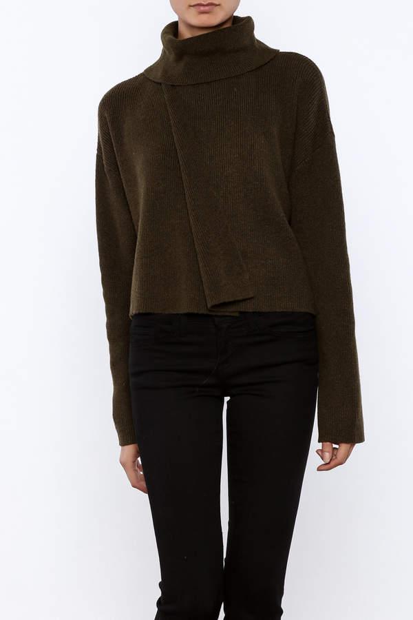 J.o.a. Turtleneck Crop Sweater