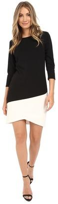 Christin Michaels Long Sleeve Tulip Hem Dress $74 thestylecure.com