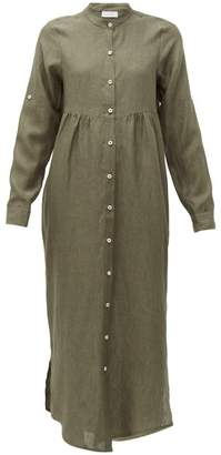 Gioia Bini Emma Linen Shirtdress - Womens - Khaki