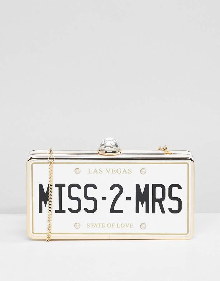 ALDO Bridal Miss 2 Mrs Clutch Occasion Bag