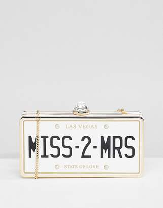 Aldo Bridal Miss 2 Mrs Clutch Occasion Bag