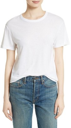 Women's Vince Distressed Tee $135 thestylecure.com