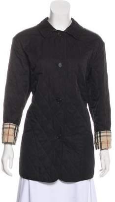 Burberry Nova Check-Lined Short Coat