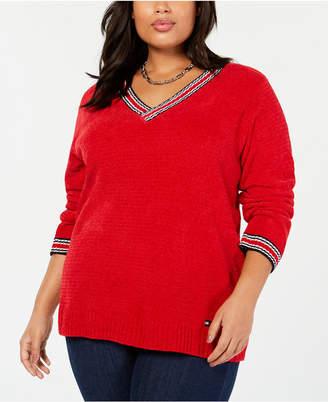 Tommy Hilfiger Plus Size V-Neck Sweater