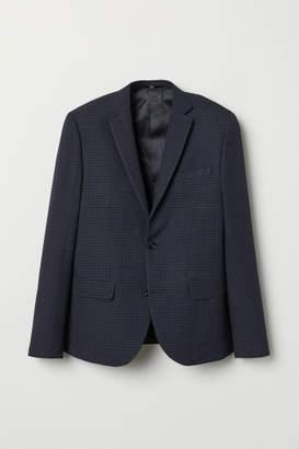 H&M Slim Fit Checked Blazer - Gray
