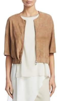 Fabiana Filippi Giacca Cropped Suede Jacket