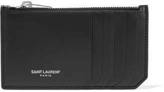Saint Laurent Leather Cardholder - Black