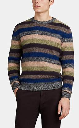 S.MORITZ Men's Striped Brushed Wool Sweater - Gray