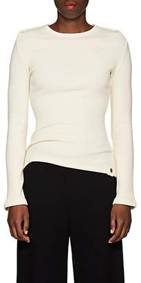Paco Rabanne Women's Tubular-Sleeve Rib-Knit Wool Sweater
