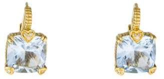 Judith Ripka 18K Synthetic Quartz & Diamond Lola Earrings yellow 18K Synthetic Quartz & Diamond Lola Earrings