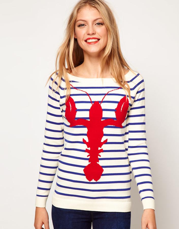 Asos Lobster Stripe Sweater