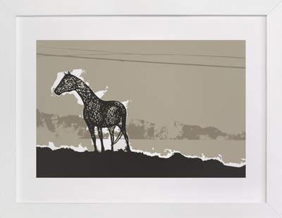Horse & Earth Art Print