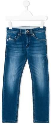 Diesel distressed effect slim jeans