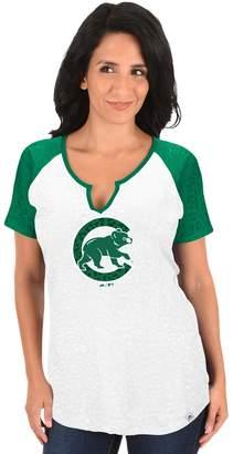 Majestic Women's Chicago Cubs Celtic Burnout Tee