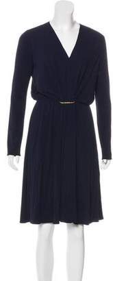 Lanvin V-Neck Knee-Length Dress