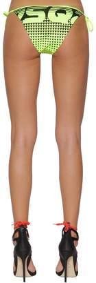 DSQUARED2 Logo Print Lycra Bikini Bottoms