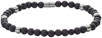 Mens Stretch Bracelet, Sodalite Black Beads