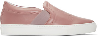 Lanvin Pink Leather Slip-On Sneakers $545 thestylecure.com