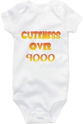 Dragon Ball Z Vossamer Cuteness Over 9000 Parody Cute Onesie Funny Baby Bodysuit