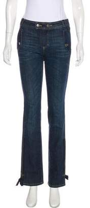 RED Valentino Mid-Rise Bootcut Jeans