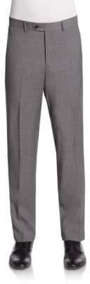 Saks Fifth Avenue Slim-Fit Melange Wool Trousers